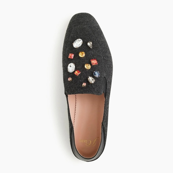 abf5d6e65a55 J. Crew Shoes | J Crew Embellished Convertible Smoking Slippers ...